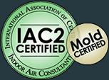 IAC2 Certified International Association of Certified Indoor Air Consultants Mold Certified badge
