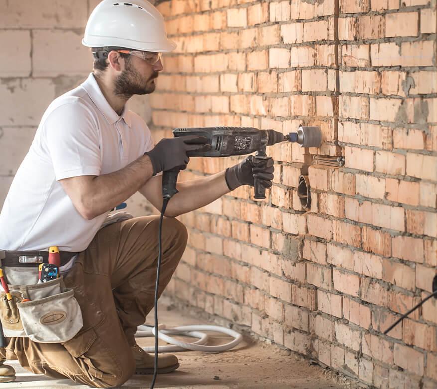 worker in basement