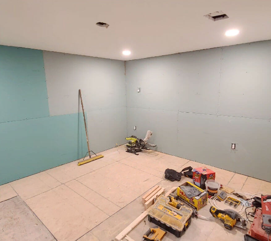 basement being finished